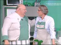 Tiziano Fabiani con lo chef Renato Salvatori