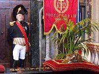 Miguel Moutoy durante la Messa in onore di Napoleone (foto di Claudio Burelli da facebook)
