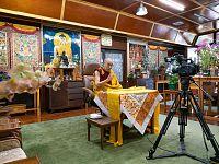 Il Dalai Lama, 84 anni, in una foto recente