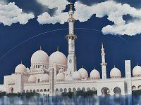 La moschea bianca Abu Dhabi