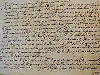 Un documento di un archivio storico elbano