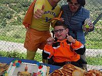 Maurizio con la madre e con Capitan Ventosa