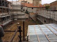 Panoramica del chiostro da un affaccio del secondo piano