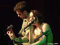 Viviana Marino e Gianni Capecchi, voce e chitarra dei Banafratta (foto Alberto Franzoni)
