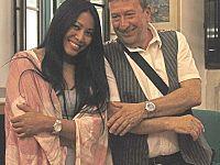 Anggun con Marco Vanni, direttore artistico delle Notte Bianca di Pontedera