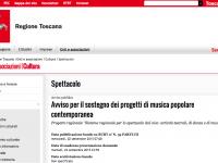 La schermata dell'Avviso pubblicato sul BURT dalla regione Toscana