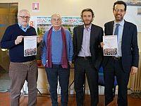 L'editore MdS Fabio Della Tommasina, lo scrittore Athos Bigongiali, il coordinatore editoriale Fabrizio Bartelloni e l'assessore alla cultura del Comune di Pisa Andrea Ferrante
