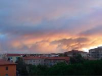 L'incendio visto da Livorno