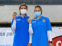 Bianchi e Pettinari con le medaglie d'oro