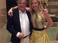 Federica Panicucci con il padre Edoardo (foto da Instagram)