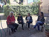 Da sinistra: Luigi Nannipieri (Presidente Misericordia Navacchio), Sandra Capuzzi (Presidente SdS Pisana), Francesca Mori (Cooperativa sociale Paim) Cecilia Nieri (Associazione Misericordie della Zona Pisana)