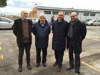 I sindaci di Pontedera dal 1975 ad oggi. Da sinistra Paolo Marconcini, Carletto Monni, Enrico Rossi e Simone Millozzi