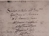 Statuti di Portoferraio dati da Cosimo I. Dall'Archivio storico del Comune di Portoferraio