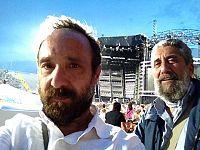 Con Luca Rinaldi, animatore di Soms Anno Zero, prima del concerto