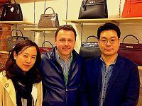 Amerigo Buti con i signori Ki Hang
