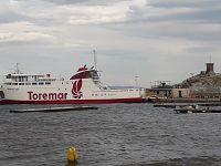 Il traghetto Giuseppe Rum oggi fermo nel porto di Rio Marina
