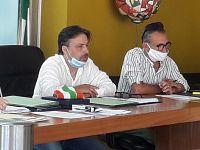 Il sindaco Walter Montagna e il presidente del Consiglio comunale Gianluca Carmani