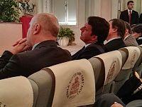 Matteo Renzi nell'Aula Magna della Scuola