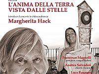 Il manifesto del concerto di Ginevra che ha suggellato la sua amicizia    e collaborazione con l'astrofisica Margherita Hack, scomparsa nel 2013