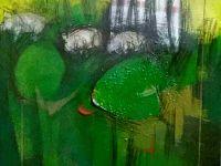 """Dipinto """"Fuori dal rudere"""", acrilico su tela, 2017"""