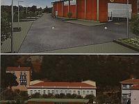 Il rendering della nuova struttura con i parcheggi
