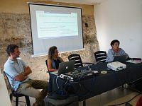 Durante la presentazione a Portoferraio