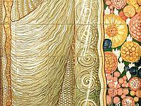 Pannello Flora - 1914 - Maiolica policroma 150 x 70