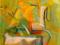 L'estate, acrilico su tela,  cm.75 x 75, 2013