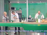 Tiziano (al centro) a La prova del cuoco