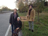 Alla Rotta insieme a Mario Biagini e un'altra attrice del Workcente