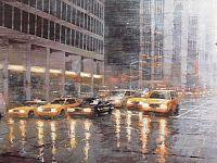 New York ,2017, acrilico su tavola, 70x150