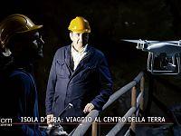 Il drone nella galleria del Ginevro a Capoliveri