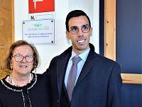 La preside Battaglini con Giorgio Cunico di Rotary Club Elba e Fondazione Elba