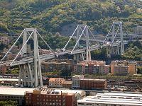 Il viadotto ponte Morandi a Genova