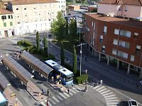 La stazione dei bus a Pontedera