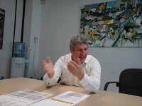 Il presidente Andrea Zavanella durante la conferenza stampa