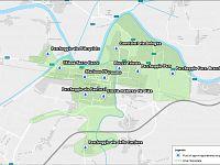 La mappa dei cantieri a Pontedera