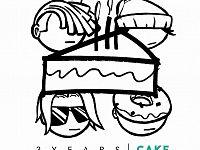 """La copertina del primo EP dei 3Years: """"Cake"""""""