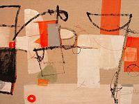 Le rondini curvano, tecnica mista su tela, cm 110 x 160, 2015