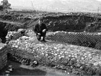 Giorgio Monaco alla Villa Romana delle Grotte a Portoferraio