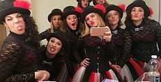 La Girlesque street band in tv