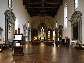 L'interno della chiesa di San Francesco a Pistoia