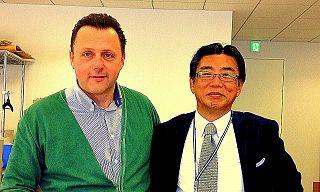 Amerigo Buti con Yoshiro Hamada