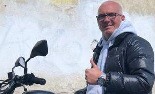 Sandro Paffi in sella alla sua moto
