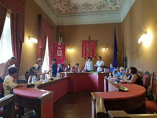 La sala consiliare di Pomarance
