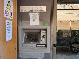 Il bancomat dismesso