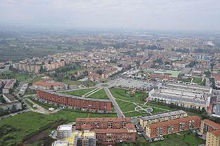 Pontedera vista dal deltaplano (foto di Piero Frassi)