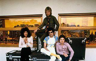 I quattro musicisti alla fine degli anni settanta