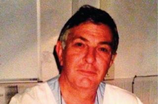 Franco Caroti quando lavorava all'ospedale Lotti