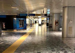 L'aeroporto Galilei deserto a seguito dell'emergenza coronavirus